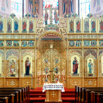 The iconostas in Sts. Volodymyr and Olha Ukrainian Catholic Cathedral in Winnipeg, Manitoba. Photo: Sterling Demchinsky (ukrainianchurchesofcanada.ca)